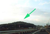 糠塚山・富田山城道路から